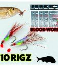 10 whiting fishing rigs Blood worm Reedy's rigs