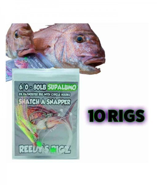 flasher rig , fishing rig snapper , snapper snatchers, 10 snapper rigs, fishing rigs, mulloway rig, gummy shark rig,