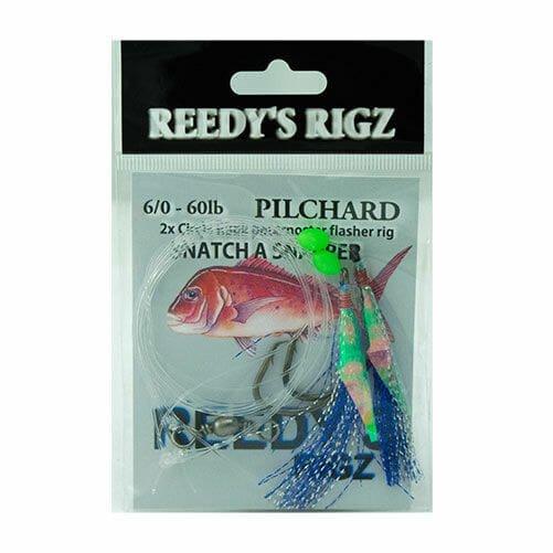 flasher rig, snapper snatchers, live pilchard