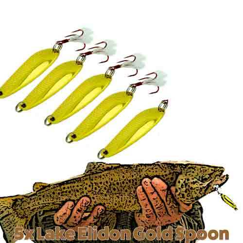 lake elidon special brown trout lures gold trolling, Fly Fishing Bait