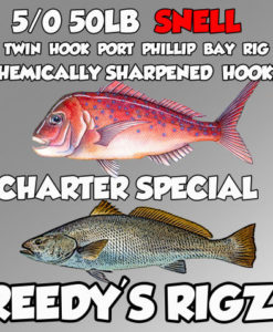 Snapper Charter Melbourne Special Snell Hook Pre-Tied Snell