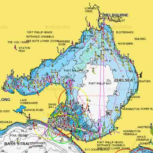 Map Of Port Phillip Bay Guide to Snapper Fishing In Port phillip Bay GPS Marks Map Of Port Phillip Bay