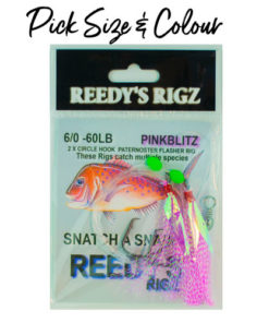 snapper rig , reedys snatchers, flasher rig