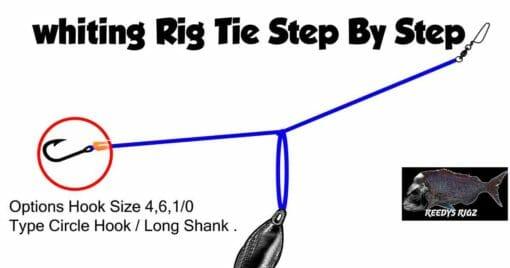 tie whiting rig , bottom fishing rig