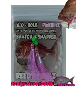 snapper snatcher , 6/0 hook , pre made fishing rig, lure , fishing , snapper