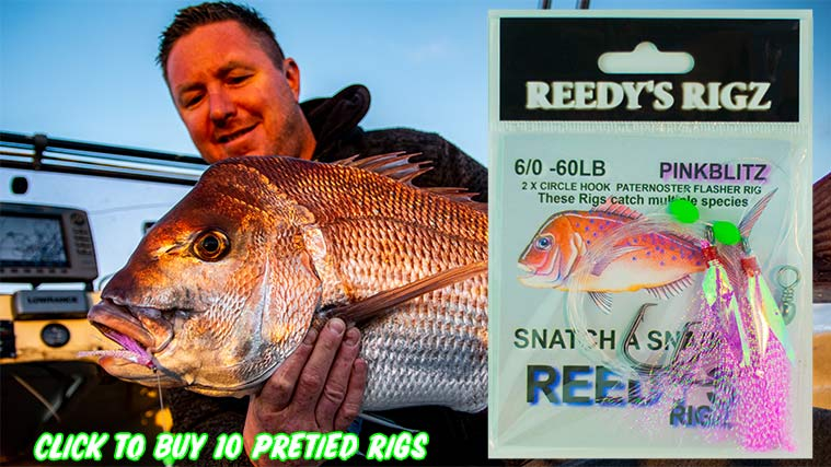 running rig, Slack tide rig, flasher rig, how to tie running rig, shark rig,mulloway rig, kingfish rig,how to tie fishing knots, tie fishing rig