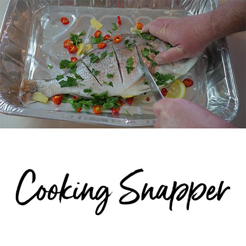 cook fish, bbq snapper, snapper recpiee, webber bbq , viedo how to