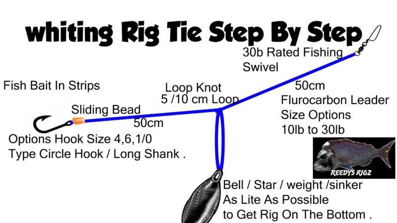 how to tie whitting rig