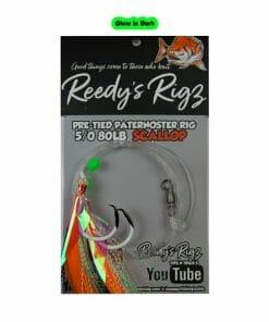 snapper rig, glow in dark sanapper rig, uv rig, fishing rig, reedys rigs