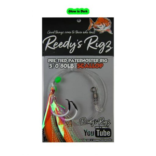 snapper rig, glow in dark sanapper rig, uv rig, fishing rig, reedys rigs