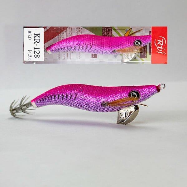 RUI SQUID JIG GS29 Purple Back Silver Belly Size 3.5 EGI FISHING LURE